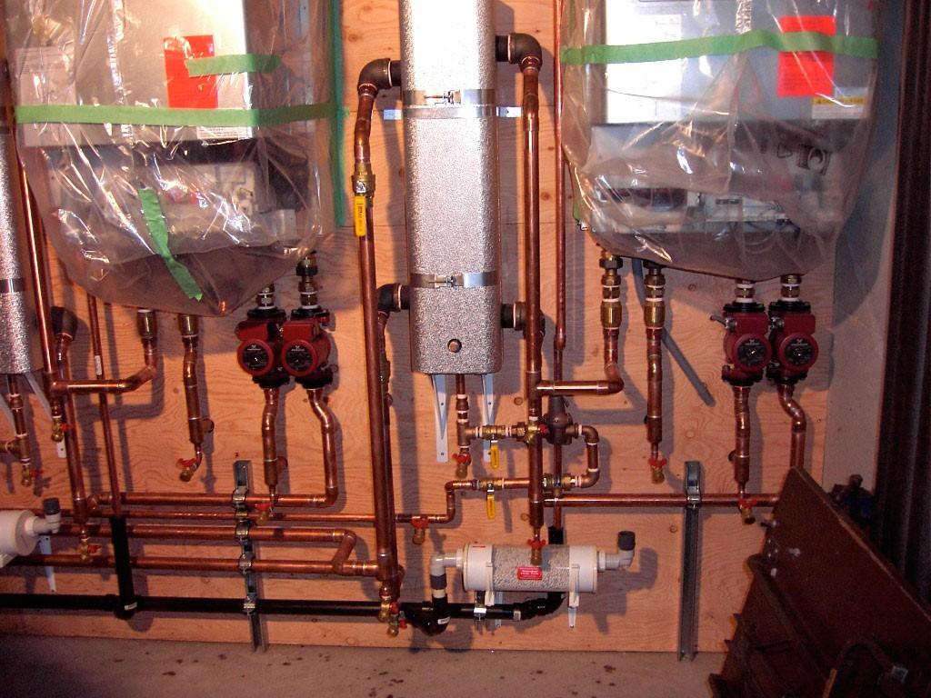 New boiler room for a 15000 sq. ft. residence